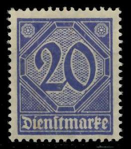 DEUTSCHES REICH DIENSTMARKEN 1920 Nr 26 postfrisch 939FBA