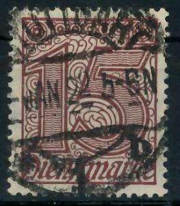 DEUTSCHES REICH DIENSTMARKEN 1920 Nr 25 gestempelt 939FC2