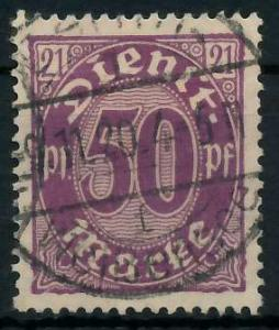 DEUTSCHES REICH DIENSTMARKEN 1920 Nr 21 gestempelt 939FC6