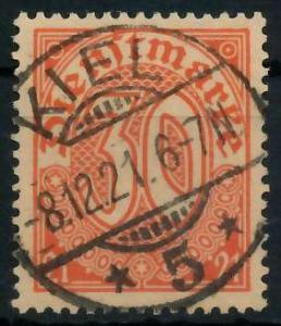 DEUTSCHES REICH DIENSTMARKEN 1920 Nr 20 zentrisch gestempelt 939FCA