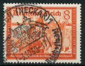 DEUTSCHES REICH 1939 Nr 706 gestempelt 93A026