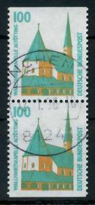 BRD ZUSAMMENDRUCK Nr 1406C+1406D zentrisch gestempelt SENKR 93A46A