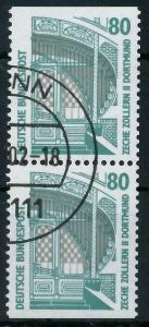 BRD ZUSAMMENDRUCK Nr 1342Cv+1342Dv gestempelt SENKR PAAR 93A57E
