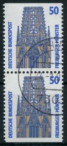BRD ZUSAMMENDRUCK Nr 1340C + 1340D gestempelt SENKR PAAR 93A582