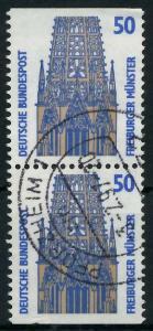 BRD ZUSAMMENDRUCK Nr 1340C + 1340D zentrisch gestempelt SENK 93A586