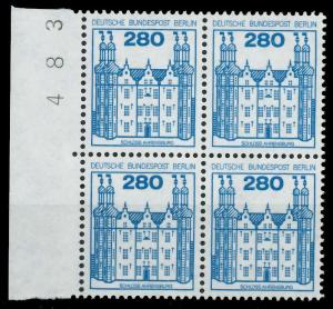BERLIN DS BURGEN U. SCHLÖSSER Nr 676 postfrisch VIERERB 94103A