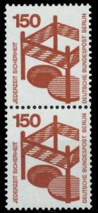 BERLIN DS UNFALLV Nr 411 postfrisch SENKR PAAR 9410D2