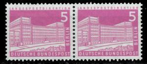 BERLIN DS BAUTEN 2 Nr 141wv postfrisch WAAGR PAAR 94110A
