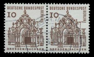 BERLIN DS D-BAUW. 1 Nr 242 zentrisch gestempelt WAAGR PAAR 94110E