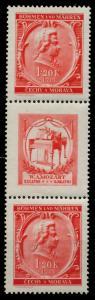 BÖHMEN MÄHREN ZUSAMMENDRUCKE Nr SZd34 postfrisch 3ER ST 7B78A6