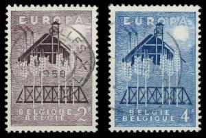 BELGIEN 1957 Nr 1070-1071 gestempelt 97D512