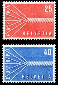 SCHWEIZ 1957 Nr 646-647 postfrisch S9F0F1E