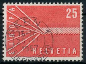 SCHWEIZ 1957 Nr 646 zentrisch gestempelt 982772