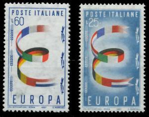 ITALIEN 1957 Nr 992-993 postfrisch 98277A