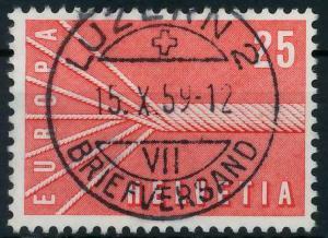 SCHWEIZ 1957 Nr 646 zentrisch gestempelt 98277E