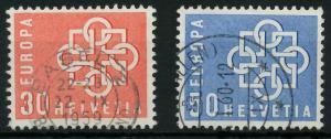 SCHWEIZ 1959 Nr 679-680 gestempelt 9A2BC6
