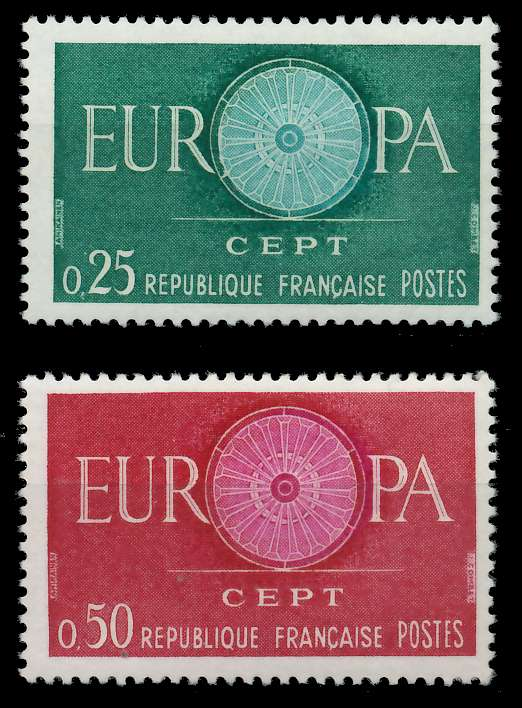 FRANKREICH 1960 Nr 1318-1319 postfrisch 9A2C9E 0