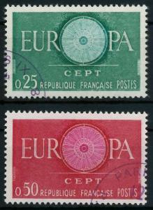 FRANKREICH 1960 Nr 1318-1319 gestempelt 9A2CA6