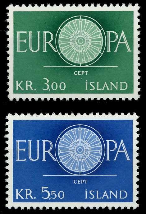 ISLAND 1960 Nr 343-344 postfrisch 9A2D3E 0