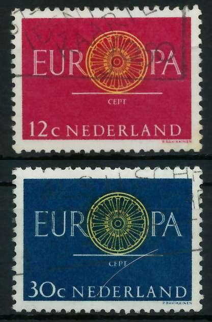 NIEDERLANDE 1960 Nr 753-754 gestempelt 9A2DD2 0