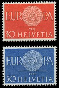 SCHWEIZ 1960 Nr 720-721 postfrisch SA17EFE