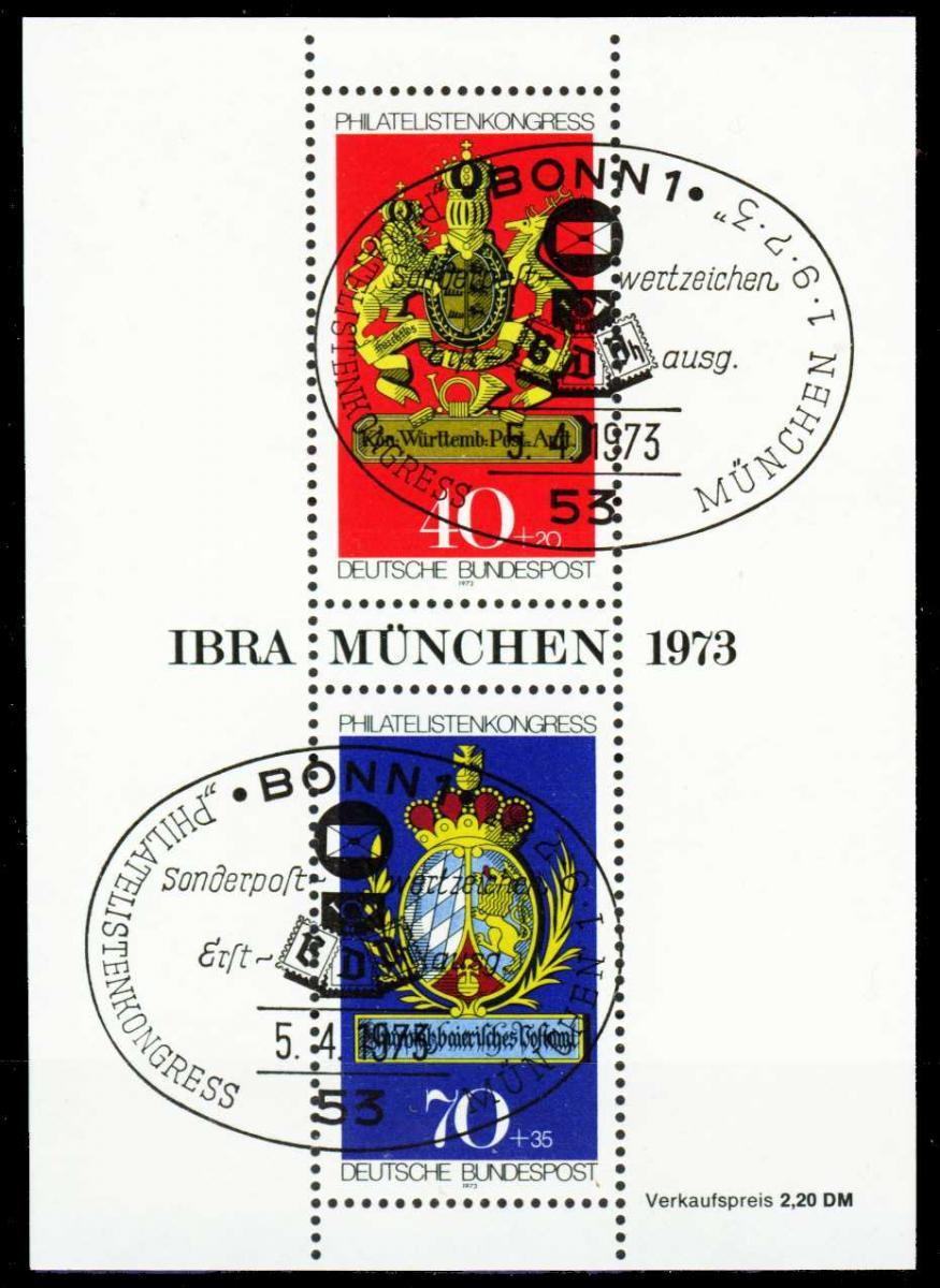 BRD BLOCK KLEINBOGEN 1949 1989 Block 9 ESST-BON S5C08DE 0