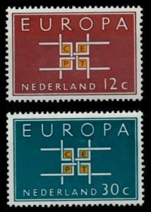NIEDERLANDE 1963 Nr 806-807 postfrisch SA31796