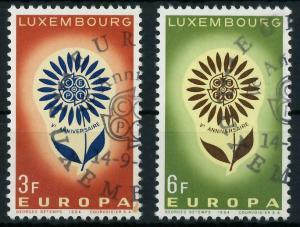 LUXEMBURG 1964 Nr 697-698 gestempelt 9B8AEE