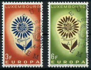 LUXEMBURG 1964 Nr 697-698 gestempelt 9B8B0A