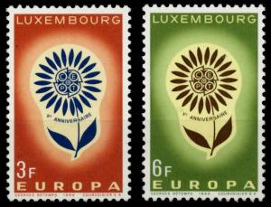 LUXEMBURG 1964 Nr 697-698 postfrisch SA31B16
