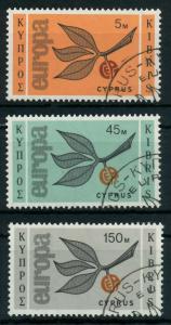 ZYPERN 1965 Nr 258-260 gestempelt 9C7EAA
