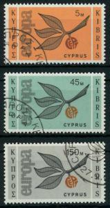 ZYPERN 1965 Nr 258-260 gestempelt 9C7EAE