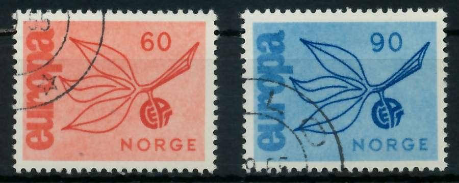 NORWEGEN 1965 Nr 532-533 gestempelt 9C7EC2 0