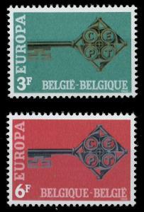 BELGIEN 1968 Nr 1511-1512 postfrisch 9D163E
