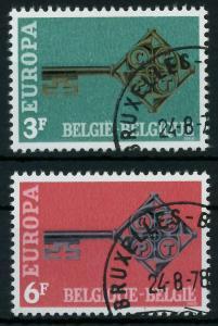 BELGIEN 1968 Nr 1511-1512 gestempelt 9D164E
