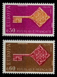 FRANKREICH 1968 Nr 1621-1622 postfrisch SA52D66
