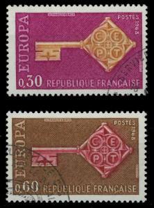 FRANKREICH 1967 Nr 1621-1622 gestempelt 9D16A2