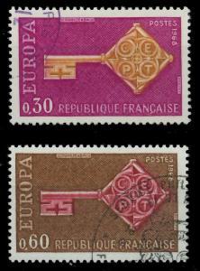 FRANKREICH 1967 Nr 1621-1622 gestempelt 9D16B2