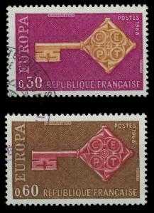 FRANKREICH 1967 Nr 1621-1622 gestempelt 9D16B6