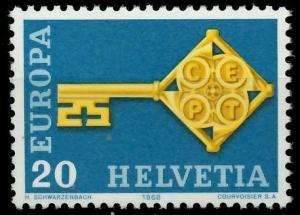 SCHWEIZ 1968 Nr 871 postfrisch SA52FBA