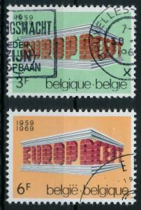 BELGIEN 1969 Nr 1546-1547 gestempelt 9D194A