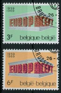 BELGIEN 1969 Nr 1546-1547 gestempelt 9D196E
