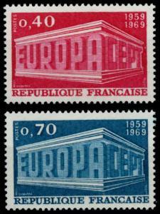 FRANKREICH 1969 Nr 1665-1666 postfrisch SA5E75A