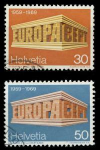 SCHWEIZ 1969 Nr 900-901 gestempelt 9DBBA6