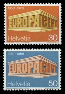 SCHWEIZ 1969 Nr 900-901 postfrisch SA5EA7E