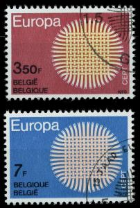 BELGIEN 1970 Nr 1587-1588 gestempelt FF482A