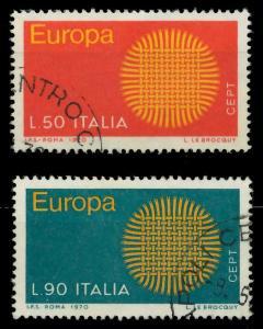 ITALIEN 1970 Nr 1309-1310 gestempelt FF495A
