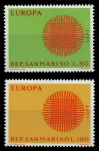 SAN MARINO 1970 Nr 955-956 postfrisch SA6EA2E