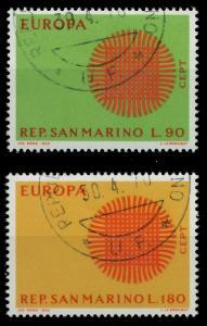 SAN MARINO 1970 Nr 955-956 gestempelt FFBFE2