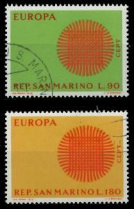 SAN MARINO 1970 Nr 955-956 gestempelt FFC00E